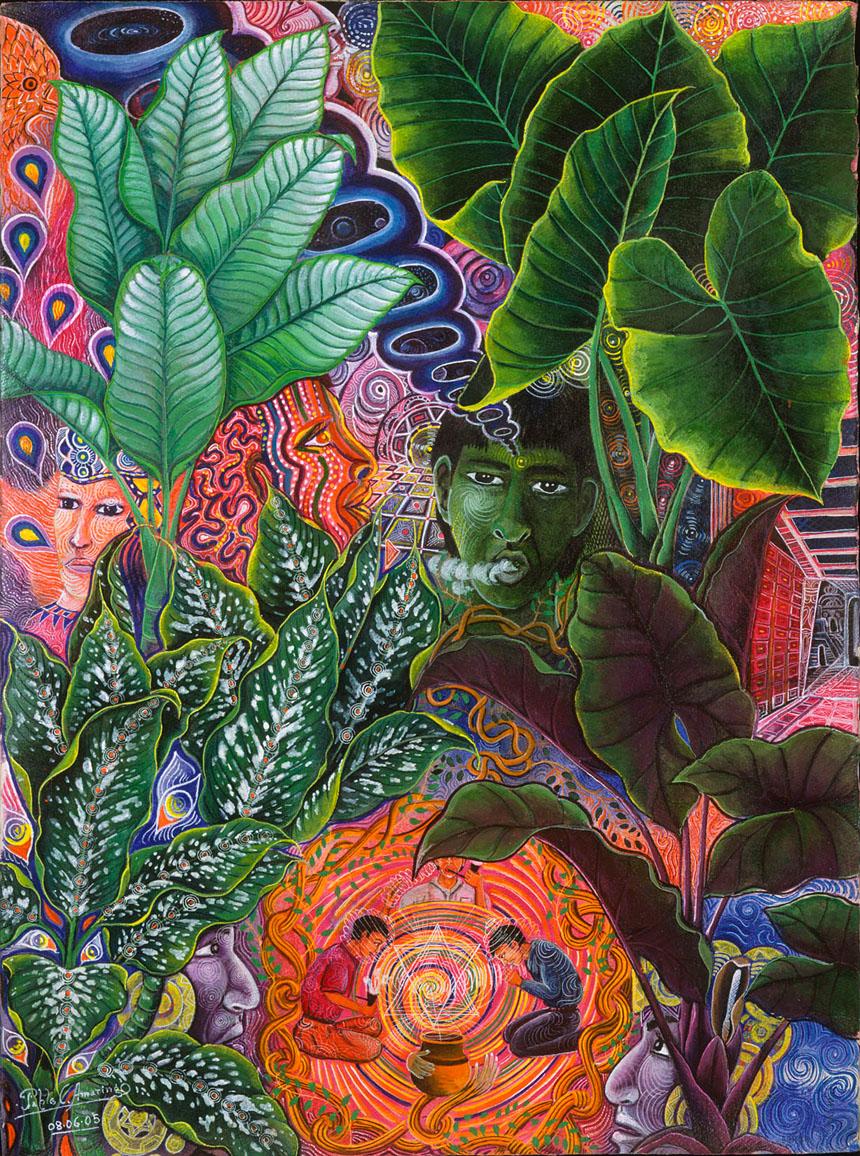 Patiquina Samai by Pablo Amaringo