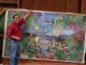 Pablo Amaringo with Misterio Profundo April 2008 Pucallpa, Peru